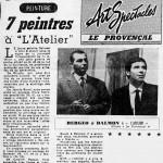 7 Peintres a l'Atelier - Le Provençal -12 Nov 1963