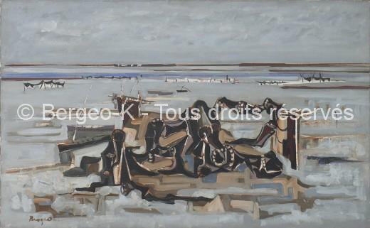 Filets au bord de l'étang (Camargue) - 1959 - 50F