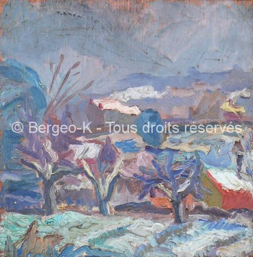 Les Bessons sous la neige - Premières oeuvres à 14 ans