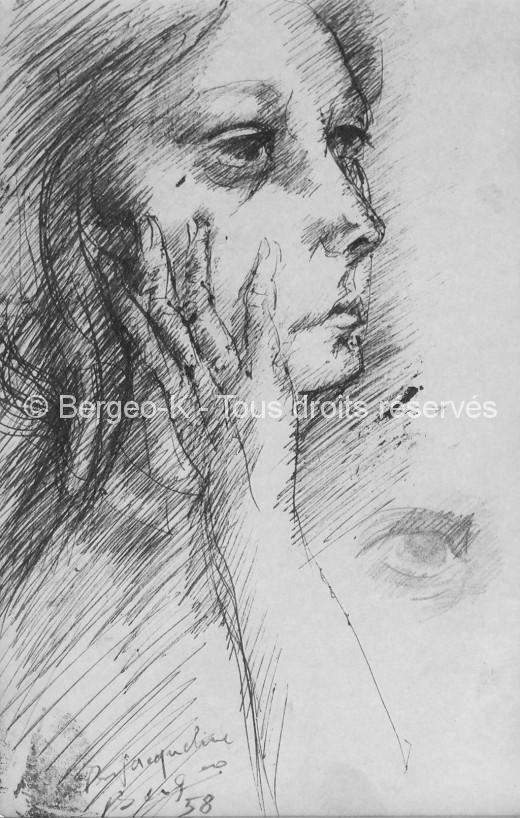 Portrait de Jacqueline - 1958