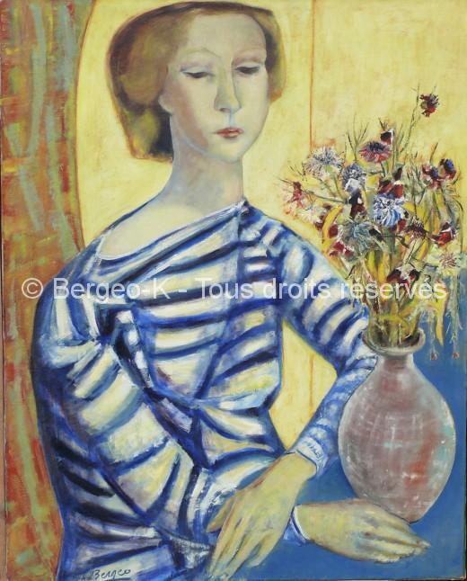 Portrait de jeune fille (Marseille - 1955 - 30F)