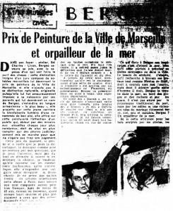 Prix de la peinture de Marseille -1959