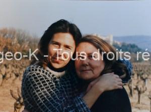 Sa femme Jacqueline et sa fille Muriel