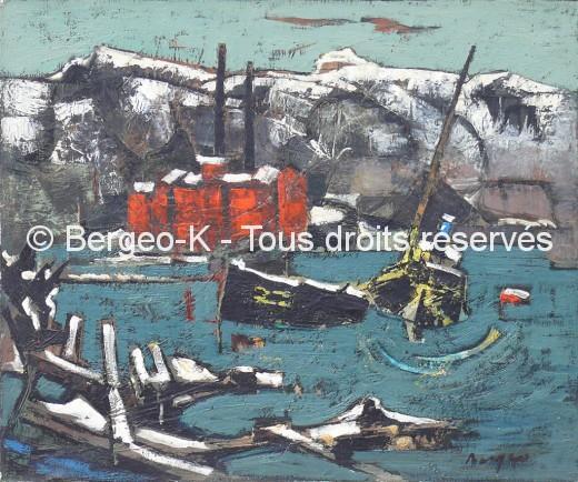 Usines sous la neige Estaque (Marseille - 1959) - 10M