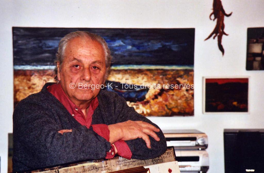 Bergeo dans son atelier (Montaren)
