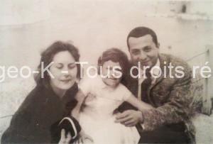 Bergeo avec sa femme Jacqueline et leur fille Muriel
