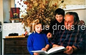 Bergeo et ses petits enfants Maureen et Bryan
