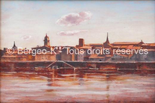 Vue d'Arles au soleil couchant - 1981 - 2F