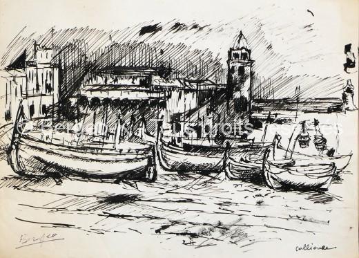 Collioure. 1951 - 30X22cm