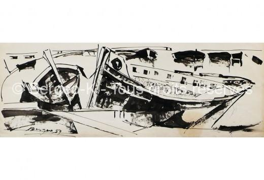 Épaves Marseille. 1959 - 66X50cm