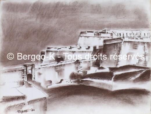 Fort Saint-Nicolas - Marseille. 1982 - 66X50cm