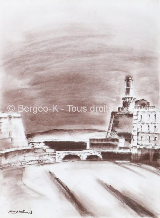Fort Saint-Jean - Marseille. 1982 - 66X50cm
