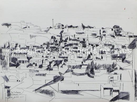Les tuileries. L'Estaque - 1952 - 37X50cm