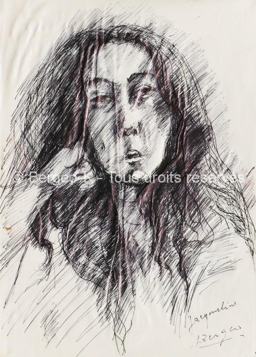 Portrait Jacqueline - 1950 - 31X22cm