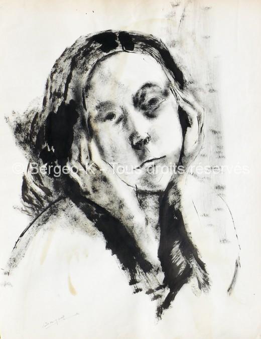 Portrait de jeune fille. 1960 - 38X50cm