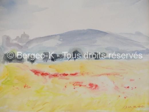 La Sainte Victoire - 33 x 25 cm (Collection privée Forsans-Gelot  - Biarritz)