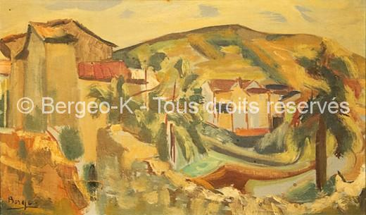 Paysage provençal - 56 X 33 cm  (Collection privée Reguin)